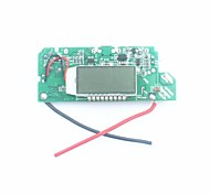 "FX-608-PCBA DIY 1.2"" LCD Dual-USB Output 5V Boost PCB Module w/ LED for Mobile Power - Silver + Blue"