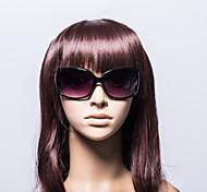 100% UV de las mujeres de plástico de gran tamaño gafas de sol retro