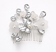 Women's/Flower Girl's Crystal/Alloy/Acrylic Headpiece - Wedding/Special Occasion Hair Combs/Flowers