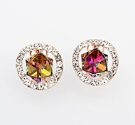 European Style Fashion Exquisite Colorful Cube Earrings