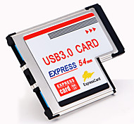 STW 54mm Express Card to 2 Port USB 3.0 Adapter with High Speed 5gb and 2 Dual Hidden Inside USB 3.0 Express Card