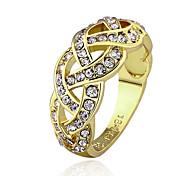 Ringe Hochzeit / Party / Alltag / Normal Schmuck vergoldet Damen Statementringe 1 Stück,7 / 8 Goldfarben / Goldgelb