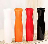 """11.8 """"h estilo moderno vaso de cerâmica branca vaso cilíndrico"""