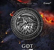 Eruner® 2015 New Popular Song of Ice and Fire Game of Thrones Targaryen Wolf Head Pin Brooch,Men's Pin