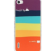 Fashion Painted Colored Stripes PC Back Cover for Huawei Honor 6