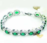 de haute qualité femmes de la mode platine 10 kt bracelets forage ovale de zircon