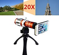 Apexel Telescope 20X Zoom Telephoto Manual Focus Camera Lens for iPhone 5/5S with Back Cover Case and Tripod