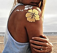 1PC New Gold Necklace Bracelet Tattoos Temporary Tattoos Sticker Cuticle Tattoos Rose Flash Tattoos Party Tattoos