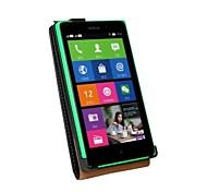 Kemile Luxury Genuine Leather Cae Flip Cover For Nokia Lumia XL