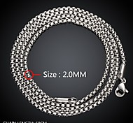 Maya Fashion Daring Simple Circle Shape Man Stainless Steel Chain Necklace(Gray)(1Pcs)