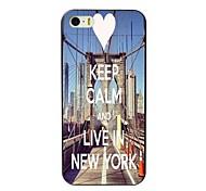 Ruhe bewahren und leben in New York Design Hard Case für iPhone 4 / 4s
