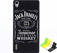 Jack Daniels Pattern PC Hard Case and Phone Holder for Huawei P7