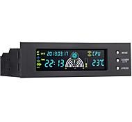 stw panneau avant pc de cas 3 canaux panneau de commande du ventilateur LCD 5,25 pouces avec affichage de la température