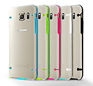 Teléfono Móvil Samsung - Cobertor Posterior - Diseño Especial/Transparente - para Samsung Samsung Galaxy S6 ( Negro/Blanco/Verde/Azul/Rosa