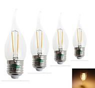 4 Stück Zweihnder Dekorativ LED-Glühlampen CA E26/E27 2 W 180 LM 3000-3500 K 2 Integriertes LED Warmes Weiß AC 220-240 V