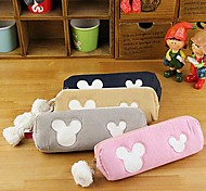 Cute Cartoon Micky Mouse Cotton Pencil Bag Random Color