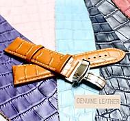 22 milímetros boa banda de couro genuíno relógio unissex (cores sortidas)