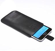 Teléfono Móvil Samsung - Bolsas - Diseño Especial - para Samsung S5 i9600/Samsung Galaxy S6 ( Negro , Textil/Cuero PU )
