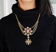 2015 Fashion Cheap Aulic Style Gold Plated Multicolors Stone Necklace