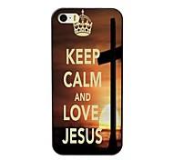 manter o caso duro projeto calma e amor jesus para iPhone 4 / 4S