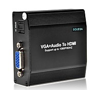 SOUESA VGA+Audio to HDMI Converter