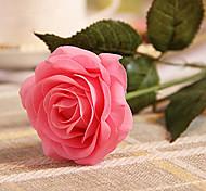 juego de 2 estilo natural rosas de color rosa de simulación