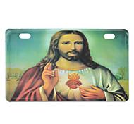 Jesus Pattern Decorative Aluminum Alloy Car License Plate