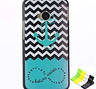 Anchors Pattern PC Hard Back Cover Case and Stand for HTC One(M7)