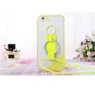 Lanyard TPU Back Case for iPhone 6 (Assorted Colors)