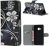 cubierta de la caja - HTC M9 - Cuero PU - Fundas  Completas - Gráfico/Bandera Nacional -