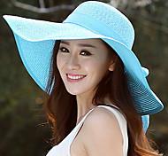 Summer Straw Bow Floppy Hat