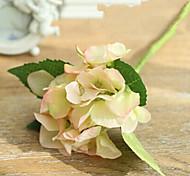 deux hyfrangeas rose artificielle fleurs