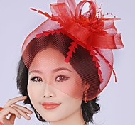 Graceful Mystery Exaggerated Hand made  Mesh Pearl  Bridal Headpiece