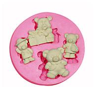 figura del fumetto orsacchiotto stampo in silicone stampo in silicone decorazione di una torta per i gioielli fondente caramelle