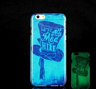 Hat Pattern Glow in the Dark Hard Case for iPhone 6