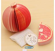 Fruit Pomegranate Shaped Paper Self-Stick Note