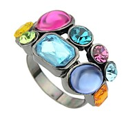Cheap Wholesale Gunblack Style Cluster Stone Ring