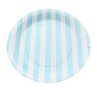 venda quente descartáveis placas 9 'favor de partido placas bonito papel listrado para o jantar (12 pcs)