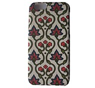 Flower Pattern Iml Fabric Crovered Hard Case for iPhone 6