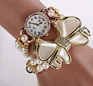 Woman Watches Wristwatches Rose Gold Watch Fashion Dress Watches Cartoon Waterproof Top Brand High Quality Pearl Bow