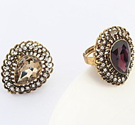 Ring Fashion Party Jewelry Alloy / Cubic Zirconia Statement Rings 1pc,One Size Gold