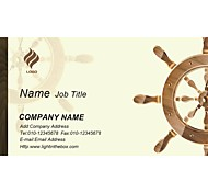 Business Cards 200pcs Seafaring Pattern 2 Sided Printing of Fine Art Filmed Paper
