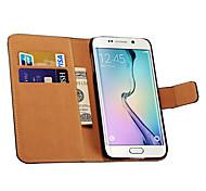 Samsung Handy - Samsung Samsung Galaxy S6 - Hüllen (Full Body) - Einfarbig ( Schwarz/Weiß/Rot/Grün/Blau/Braun/Rosa/Purpur/Rosé/Orange ,