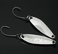 B.J.F® Metal Spoons 1.7g/6pcs/31mm Silver Fishing Lures