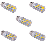 5 PC E26 / E27 15 w 60 x SMD 5730 1500 lm 2800-3200 / 6000-6500 k caliente fresco ac bombillas blanco / maíz blanco 110/220 v