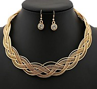 Women's Golden collar short necklace