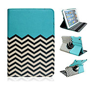 Fashion Wave Grain Rotary PU Full Body Case with Stand for iPad Air (Assorted Colors)