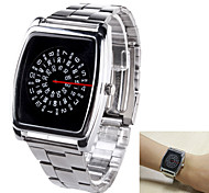 Men's Analog Wrist Watch Personality Rotation of Dial Plate Stainless Steel Belt Design Quartz Watch
