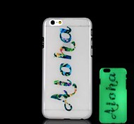 Aloha Pattern Glow in the Dark Hard Case for iPhone 6