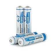 4 PCS GD-AAA-4B-3 Replacement 1.2V 1000mAh Rechargeable Ni-MH AAA Battery  (Blue)